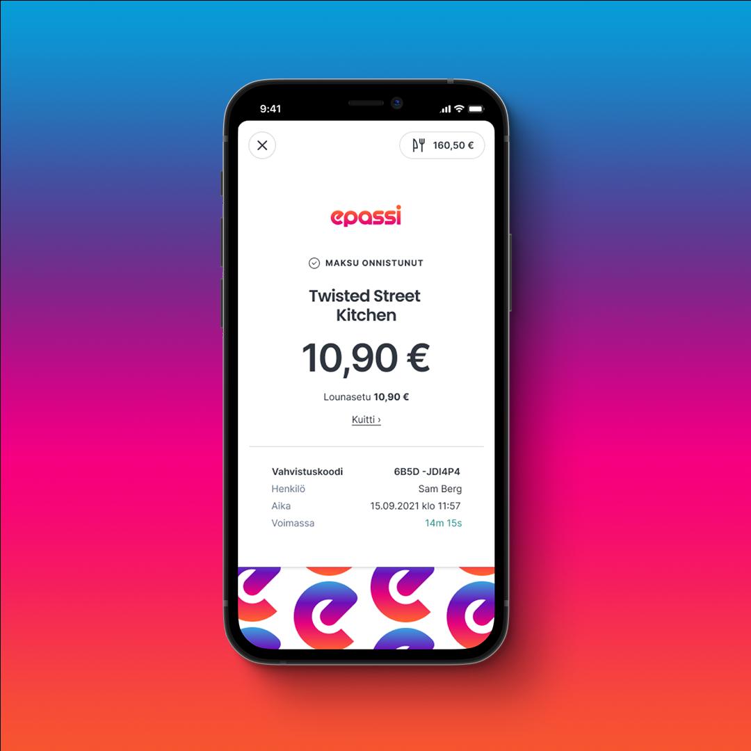 App payment Lunch gradient bg
